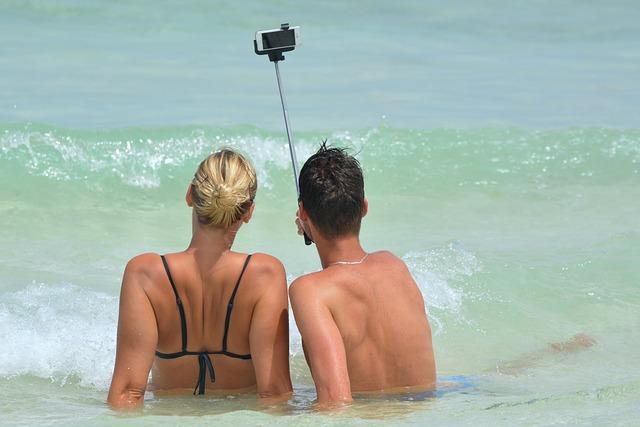 selfie v moři